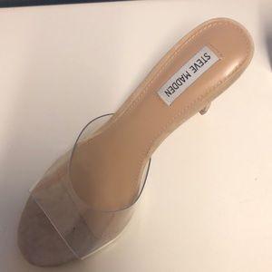 9601f0bbc07 Women s Steve Madden Clear Heels on Poshmark